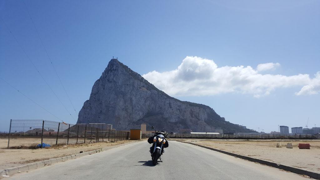 Moto rider touring in Gibraltar