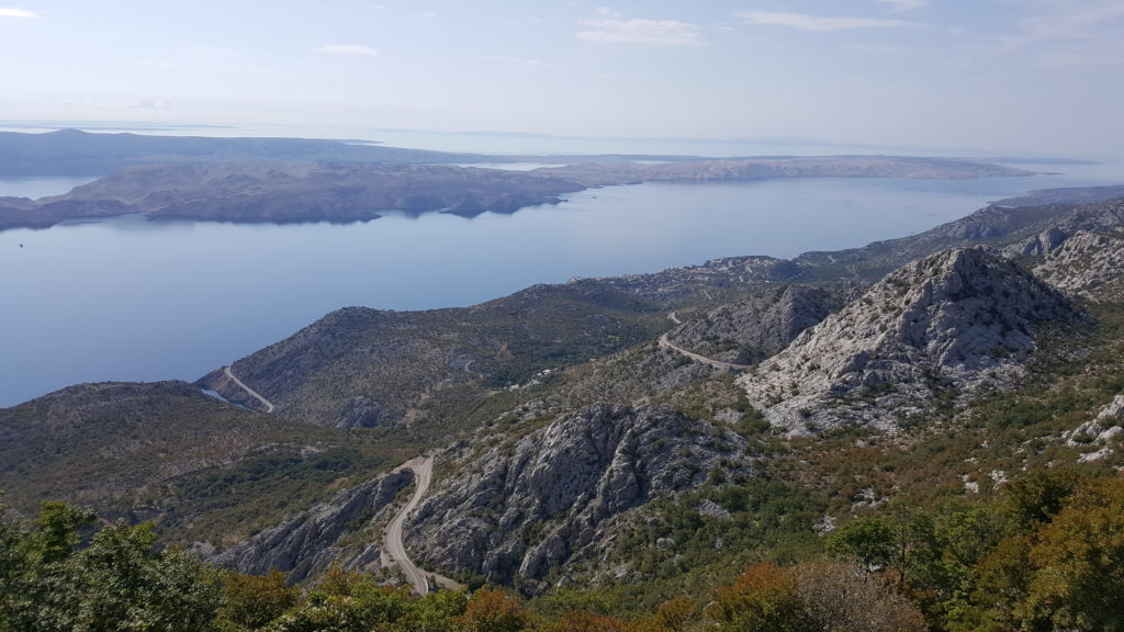 Moto rider touring in Croatia