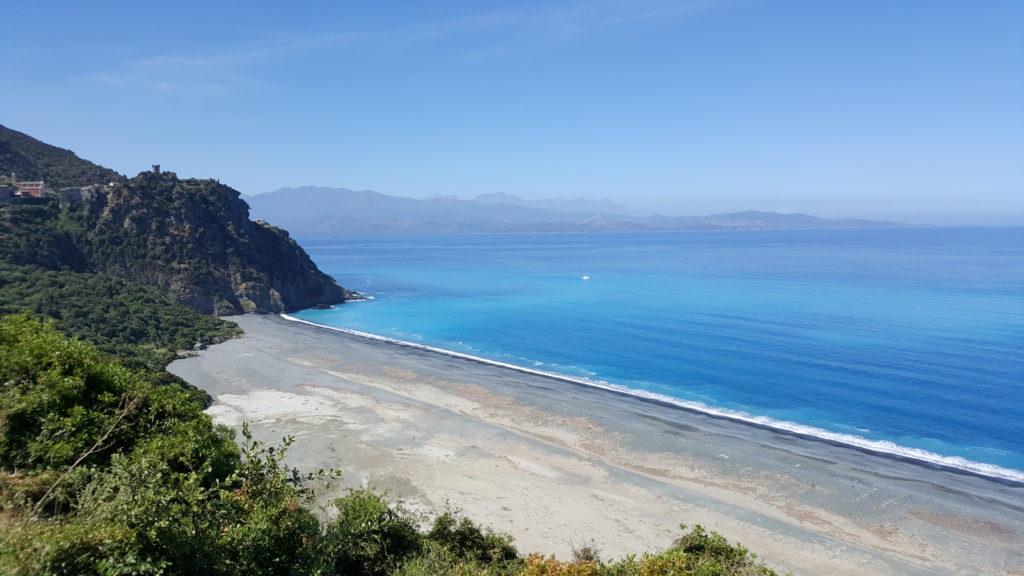 Nonza Beach of Cap Corse - Motorcycle touring in Corsica