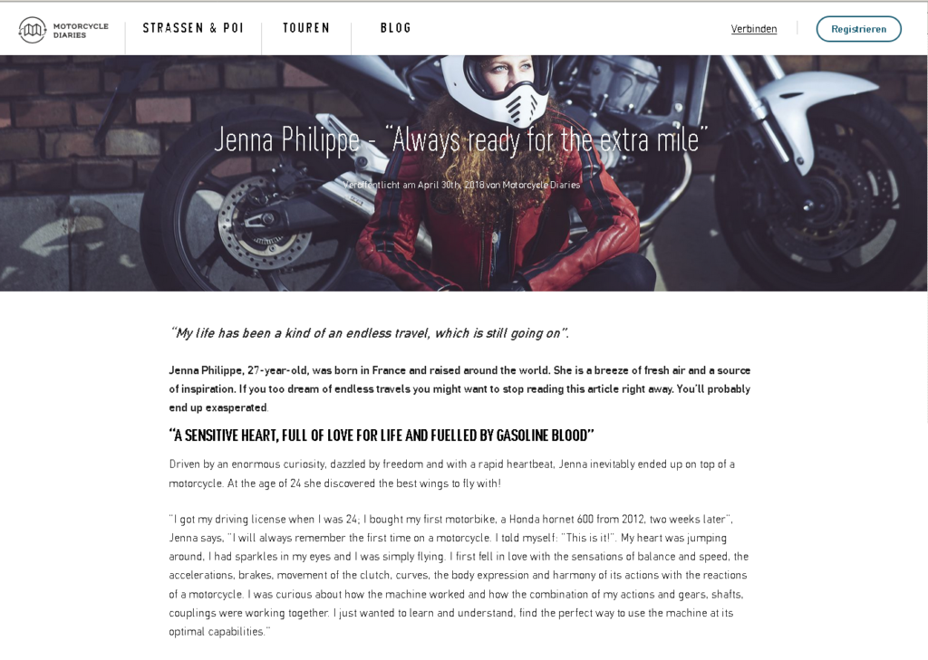 press/ blog post about a-moto published by motorcycle-diaries